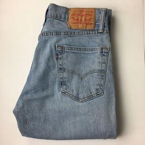 Levi's 514 Distressed Light Wash Jeans W29 L32